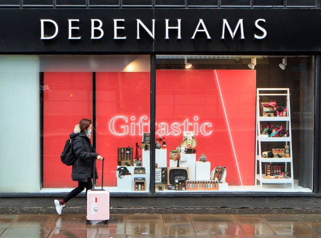 Debenhams falls in retail carnage hours after Topshop owners topple into administration
