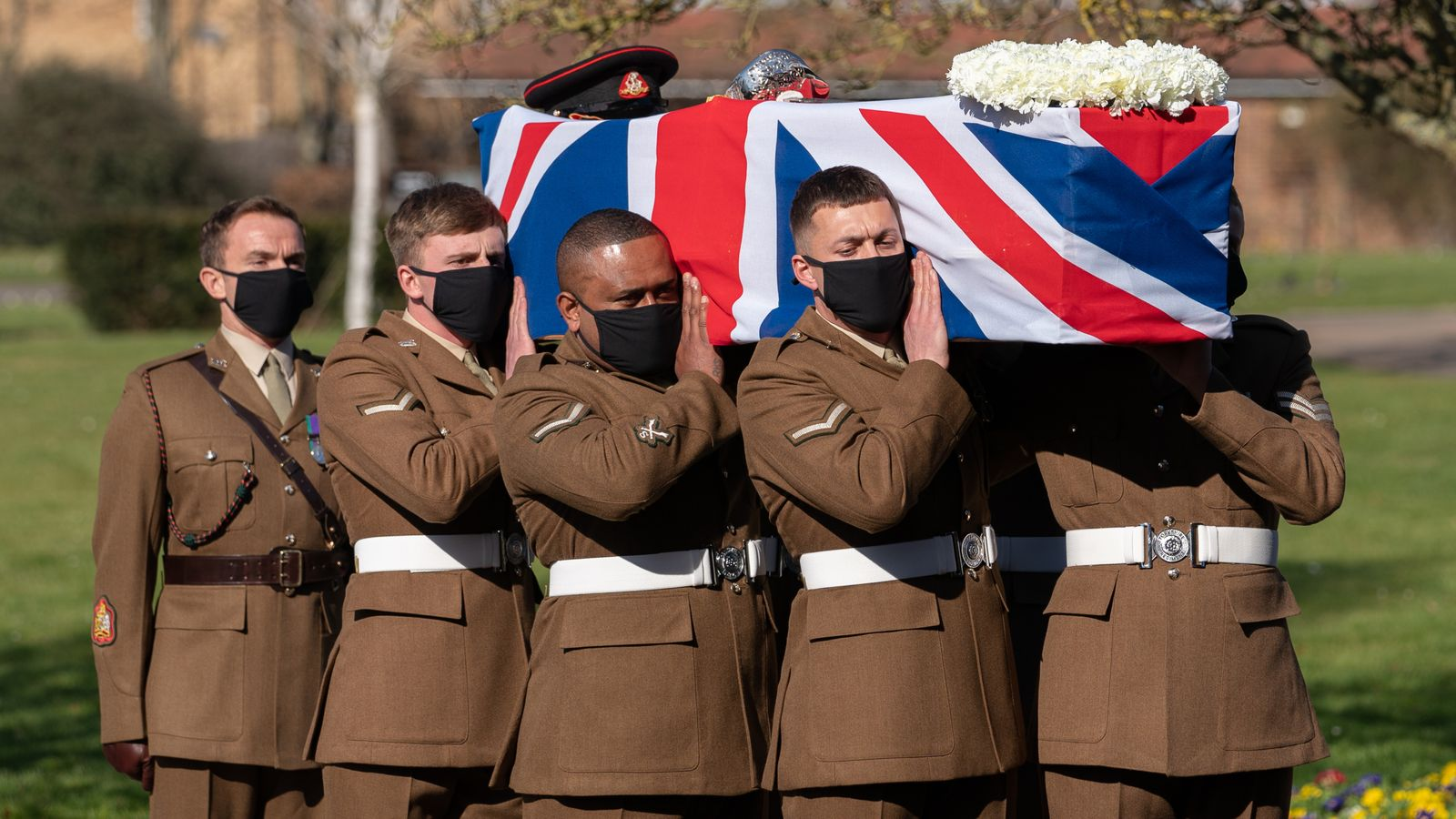 Captain Sir Tom Moore funeral: Military flypast as family says 'his spirit lives on'