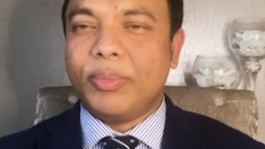 Dr Ebadur Chowdhury urging people to contact their GP