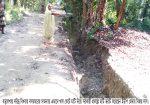 বড়লেখায় বিধবার বাড়ির রাস্তায় খাল কেটে ইজিপিপি প্রকল্পে মাটি ভরাট