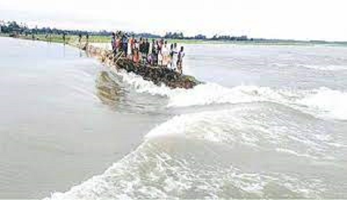 Sylhet division flooded due to onrush of water and heavy rainfall