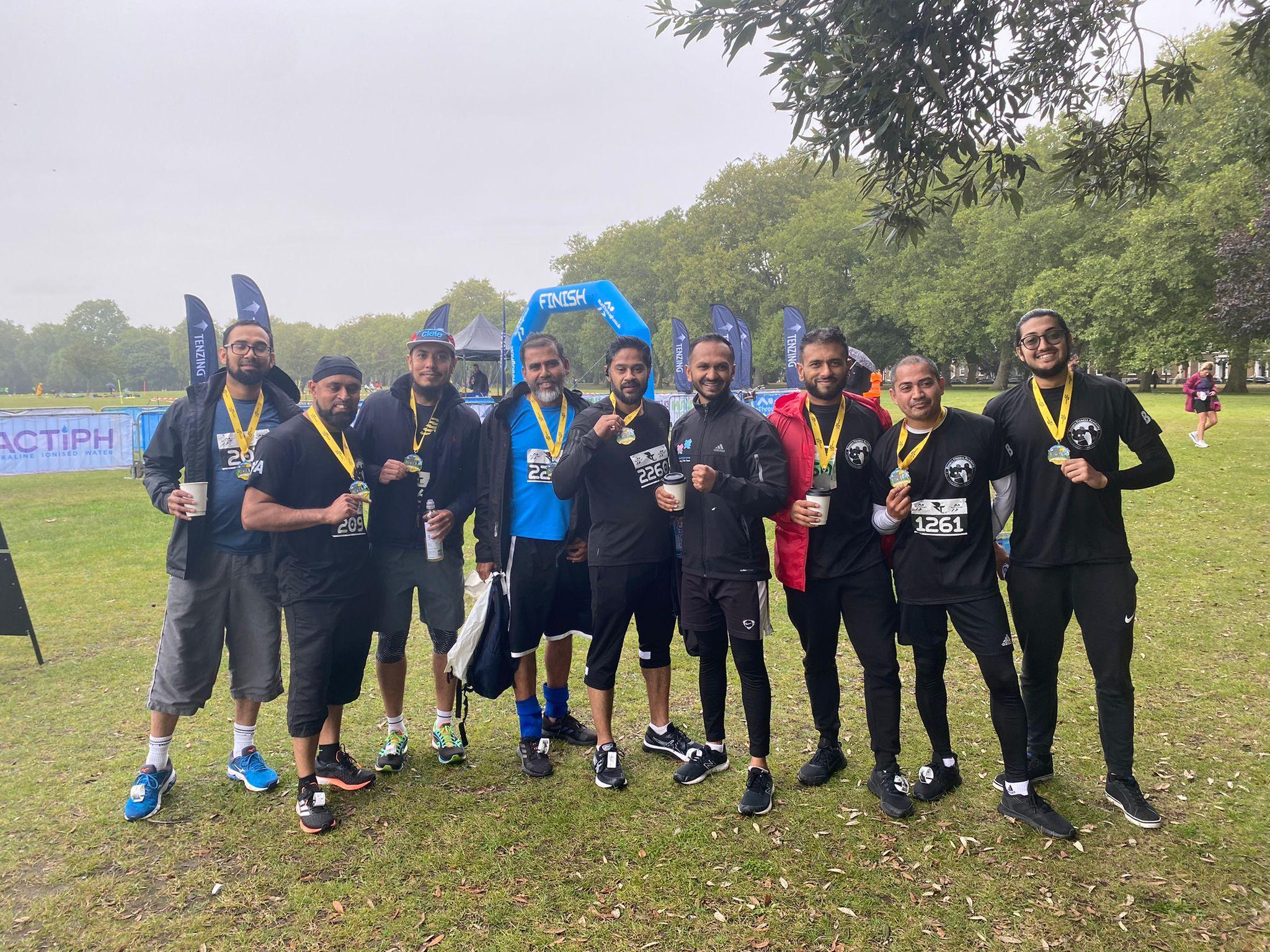 BFA dads n lads break PB in 5K, 10K & Half Marathon in Victoria Park