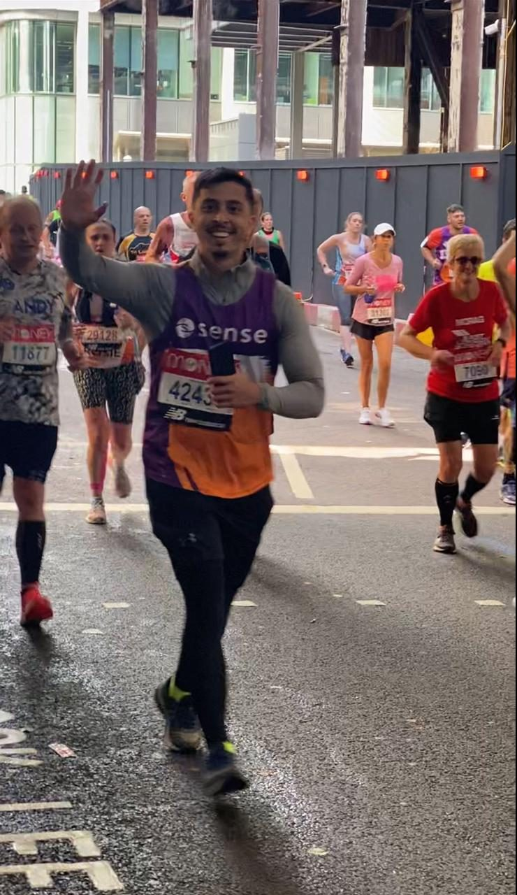 Young trailblazer completes his first London Marathon in style!